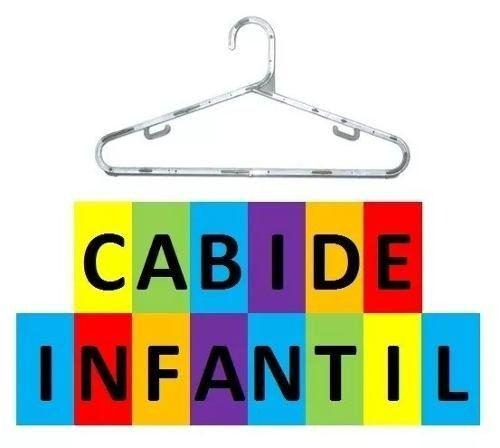 Imagem de Kit 50 Cabides Acrílico Transparente Infantil Qualidade