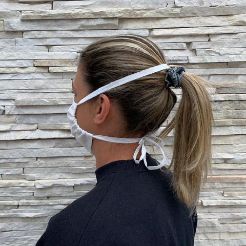 Imagem de Kit 50 Protetor facial de tnt duplo proteção lavável
