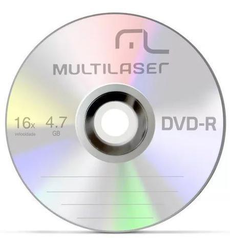 Imagem de Kit 50 Unidades Midia Dvd-r Virgem Vel.16x 4.7gb - Multilaser