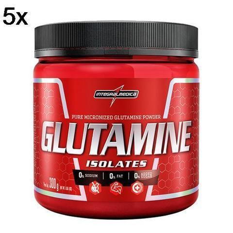 Imagem de Kit 5X Glutamine Isolates - 300g - IntegralMédica