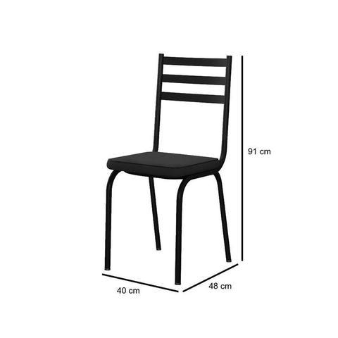Imagem de Kit 6 Cadeiras 118 Europa Preto - Artefamol