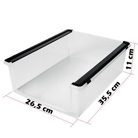 Imagem de Kit 6 Caixa Organizadora para Sapatos Modelo Empilhável Multiuso OR60800 Ordene Brinquedos Acessórios