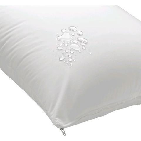 Imagem de Kit 6 Capa Travesseiro Impermeável Com Zíper 70x50cm
