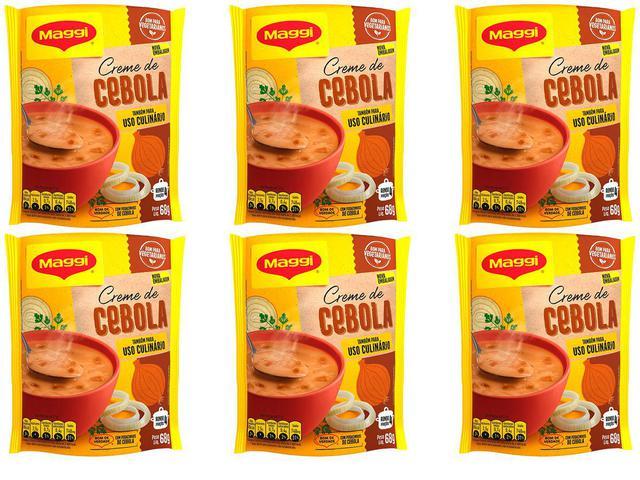 Imagem de Kit 6 Creme de Cebola Sopa Uso Culinário Maggi Nestle 68g