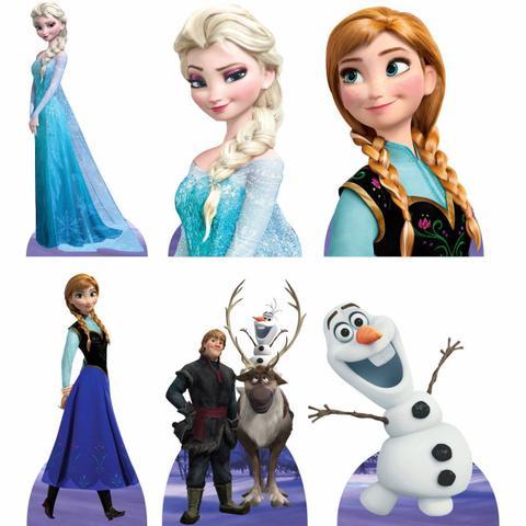 Imagem de Kit 6 Displays de Mesa e Painel Frozen