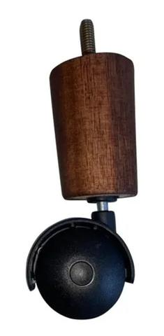 Imagem de Kit 6 Pes De Cama Box Casal Com 4 Pé Palito Fixo 2 Rodizios