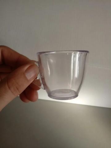 Imagem de Kit 6 Xícara Pequena 50ml Café Cafézinho Cristal - Plástico Acrílico