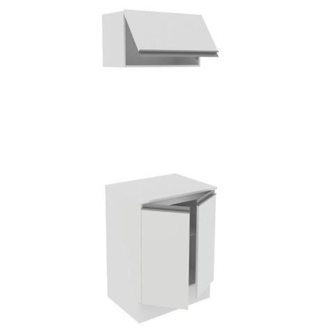 Imagem de Kit 60 cm Madesa Smart 100% MDF 2 Portas e 1 Suspensa Com Tampo - Branco