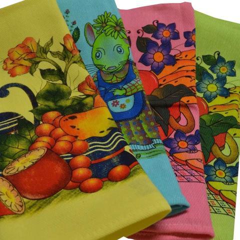 Imagem de Kit 60 Panos De Prato Atacado Colorido Fesbar N1 Promoção