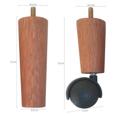 Imagem de Kit 7 Pes De Cama Box Casal com 5 Pé Palito Fixo 2 Rodizios