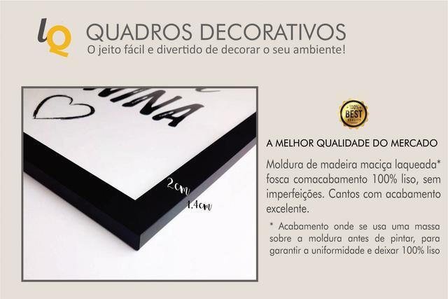 Imagem de Kit 7 Quadros Decorativos LosQuadros Folhagens Douradas Moldura Preta