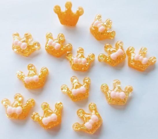 Imagem de Kit 72 Aplique De Resina/biscuit Infantil - Enfeite De Laço