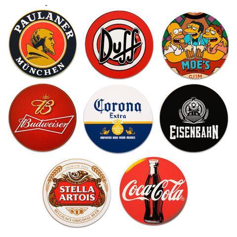 Imagem de Kit 8 Bolachas Porta Copos Em Plástico Cervejas Com Suporte