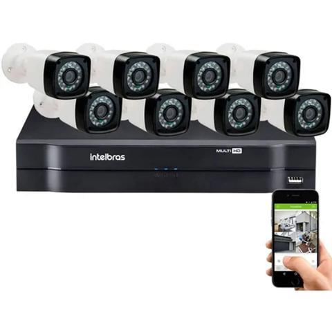 Imagem de Kit 8 Câmeras De Segurança Residencial Dvr Intelbras 1108 Full Hd