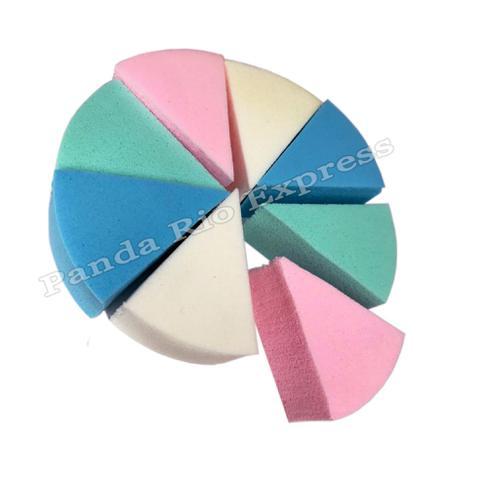 Imagem de Kit 8 Esponjas Faciais De Maquiagem Triangular Base Corretivo Diversas Cores