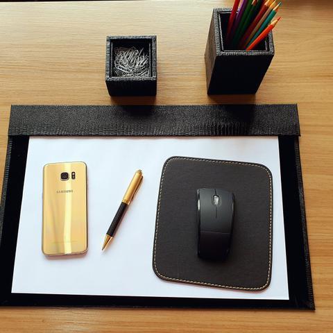 Imagem de Kit a3 premium de mesa risque rabisque escritório - preto
