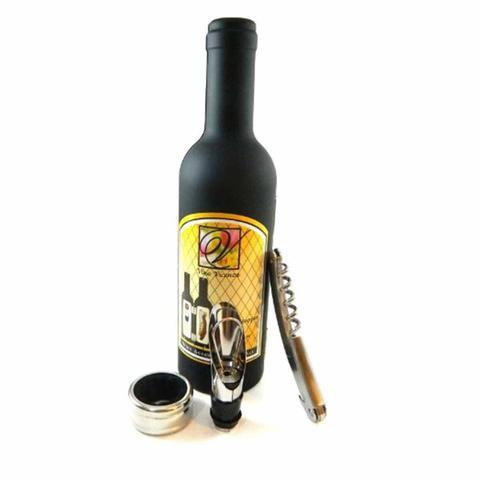 Imagem de Kit Abridor Tampa de Vinho 3 Peças Garrafa Emborrachada DS-1178