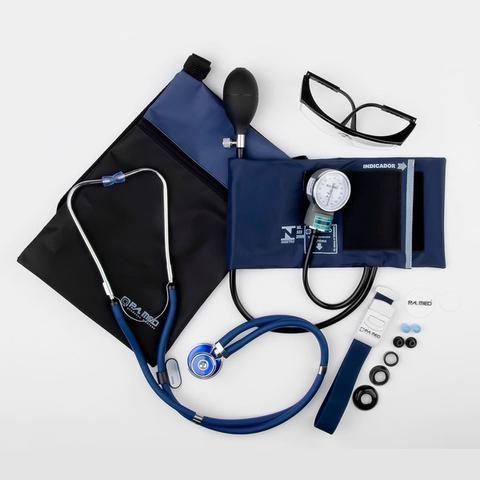 Imagem de Kit acadêmico de enfermagem c/ Medidor de Pressão e estetoscópio rappaport - P.a. med