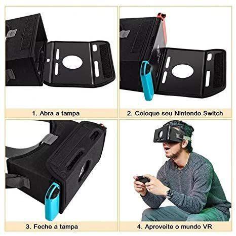 Imagem de Kit Acessórios 13 Em 1 Nintendo Switch + Óculos Realidade Virtual