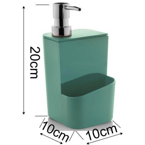 Imagem de Kit Acessórios Organizadores P/ Pia Lixeira Escorredor Dispenser