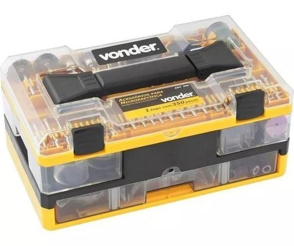Imagem de Kit Acessórios Para Mini E Micro Retífica Com 350 Peças Vonder