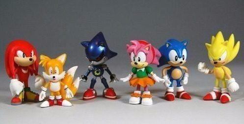 Imagem de Kit Action Figure Sonic -conjunto C 6 Bonecos Pronta Entrega