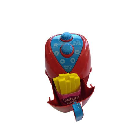 Imagem de Kit air fryer happy food colorido com batatinhas e acessorios divertidos