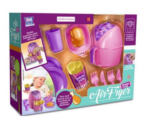Imagem de Kit Air fryer + Maquinha Espresso Show Completo 26 peças Zuca Toys 7645 + 7650