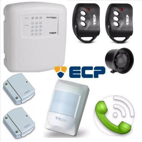 Imagem de Kit Alarme Residencial Comercial Ecp Alard Max  Sem Fio com 03 Sensores