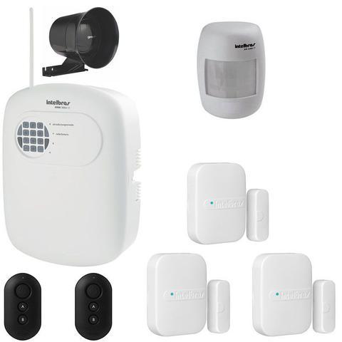 Imagem de kit Alarme Sem Fio Intelbras Com 4 Sensores