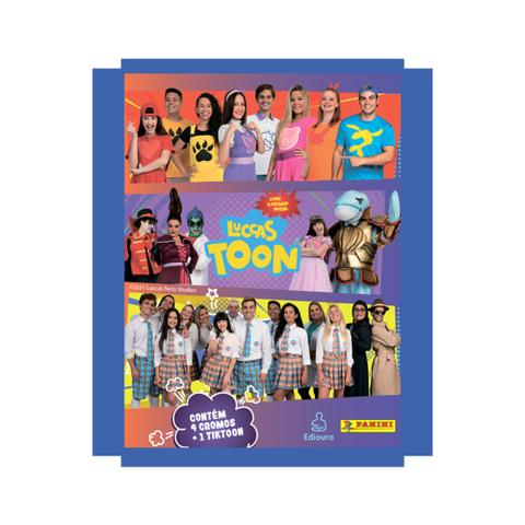 Imagem de Kit Album Luccas Neto + 5 Envelopes Figurinha = 20 Cromos + 5 Tiktoon