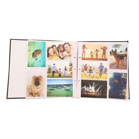 Imagem de Kit álbum mega 500 fotos preto + refil de folhas ical