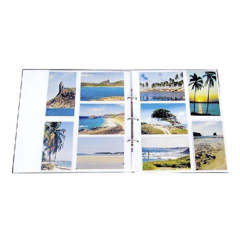 Imagem de Kit Álbum Mega Mundo Colorido 500 Fotos e Refil 100 Fotos Ical