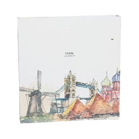 Imagem de Kit Álbum Mega Preto e  Monumentos 500 Fotos 10x15