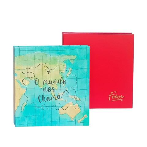 Imagem de Kit Álbum Mega Vermelho Mundo e Colorido