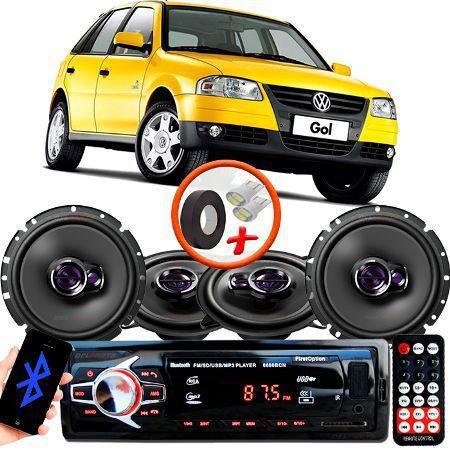 Imagem de Kit Alto Falante Pionner Volkswagen Gol G4 Ts-1360br + TS-1760BR 5X6