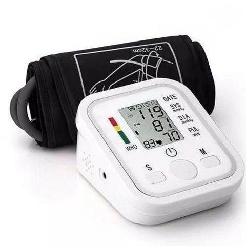 Imagem de Kit Aparelho De Medir Pressão Arterial Braço Digital + Oxímetro Digital Dedo + Termometro LASER Digital Infravermelho