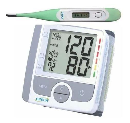 Imagem de Kit Aparelho De Medir Pressão Digital De Pulso GP 300 + Termometro