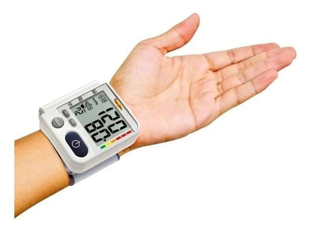 Imagem de Kit Aparelho De Medir Pressão Digital De Pulso LP 200 + Termometro