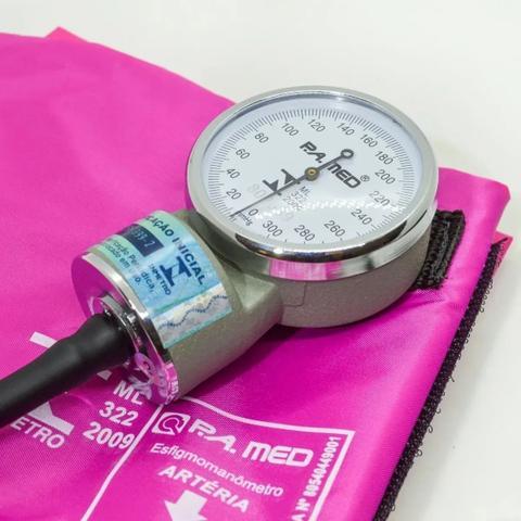 Imagem de Kit Aparelho De Medir Pressão Esfigmomanômetro + Estetoscópio PA Med
