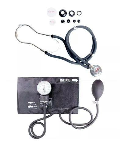 Imagem de Kit Aparelho De Medir Pressão + Esteto Duplo + Termometro