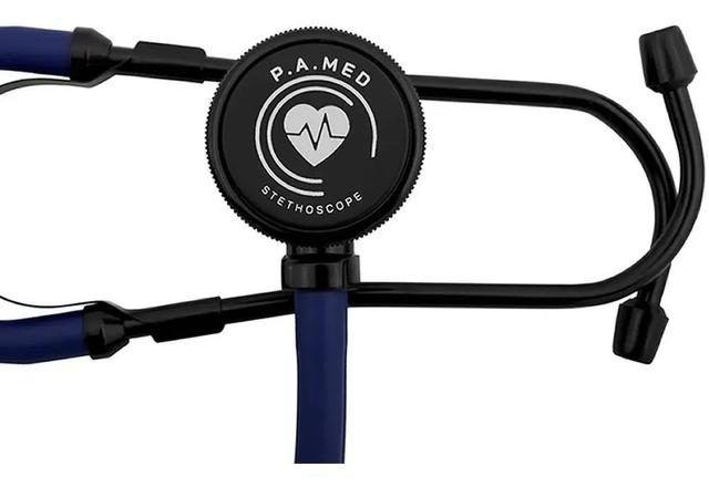 Imagem de Kit Aparelho De Medir Pressão + Esteto + Garrote + Oculos P. A Med Azul