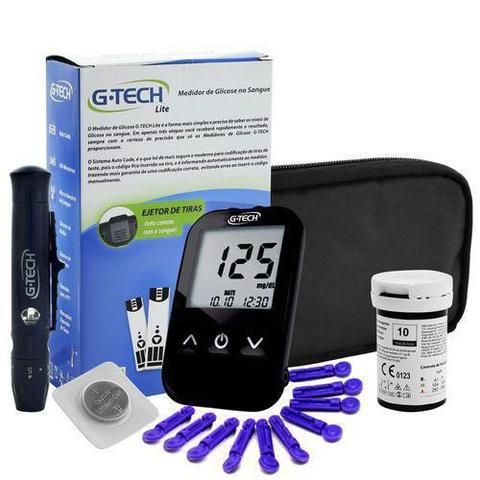 Imagem de Kit Aparelho de Medir Pressão + Glicosimetro Lite G-Tech + TH150 Branco + Garrote