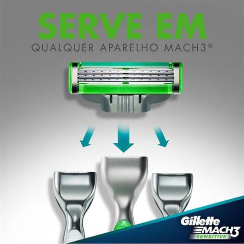 Imagem de Kit Aparelho Gillette Mach3 Sensitive + 16 Cargas Mach3 Sensitive