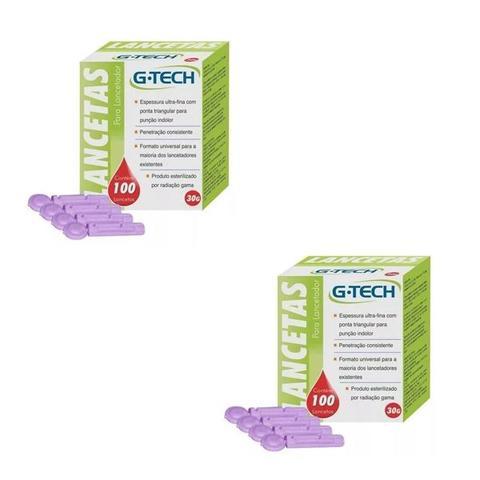 Imagem de Kit Aparelho Glicemia Medir Glicose 200 Tiras 200 Lancetas