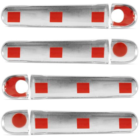Imagem de Kit Aplique Cromado Maçanetas Externas do Corolla 03 a 13 Filder 05 a 09 e Hilux SR SRV SW4