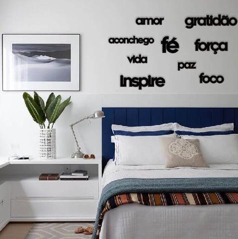 Imagem de Kit Apliques com 9 Palavras Lettering: gratidão inspire aconchego amor paz vida fé foco força Mdf Parede