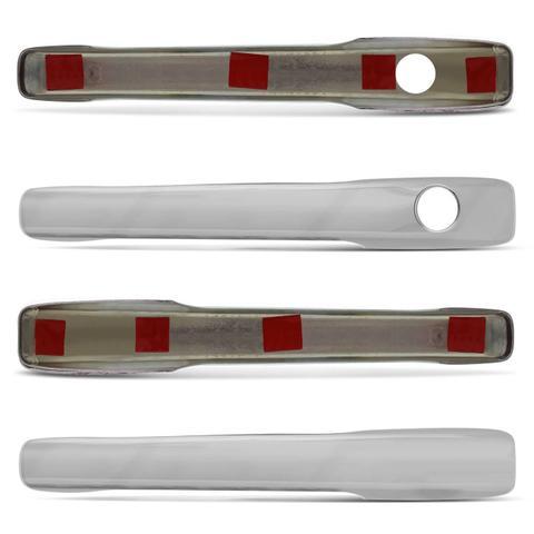 Imagem de Kit Apliques Cromados Gol Quadrado G1 Parati Saveiro Voyage 87 a 95 4 Portas Com e Sem Furos Chave