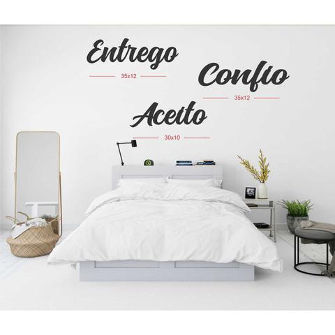 Imagem de Kit apliques Palavras ENTREGO CONFIO ACEITO MDF