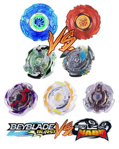 Imagem de Kit Arena Beyblade + 5 Beyblade Burst Evolution+ 2 Pião Infinity Nado